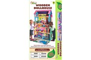 First Learning Wooden Dollhouse Fully Furnished 4 Levels