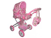 Playworld Pink Doll Pram Large