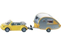 Siku Orange Tag Car With Caravan 1629