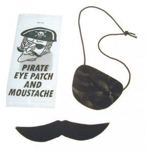 Pirate Eye Patch & Moustache