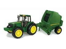 Big Farm John Deere Tractor & Round Baler Lights & Sounds