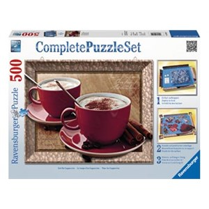 Ravensburger Complete Puzzle Set Time For Cappuccino 500 Piece Puzzle