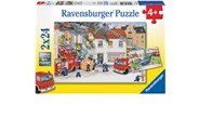 Ravensburger With The Fire Brigade 2x24 Piece Puzzle