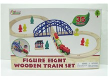 First Learning Figure Eight Wooden Train Set 35 Pieces