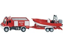 Siku Orange Fire Engine With Boat 1636