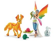 Schleich Bayala Rainbow Elf Dunya With Foal 41438