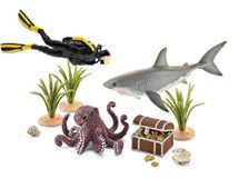 Schleich Wild Life Treasure Hunt Diver 42329