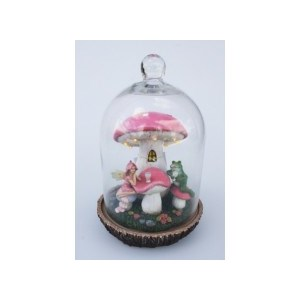 Chloe's Garden Glass Dome Fairy Scene With Led Lights